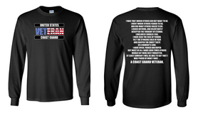 US Coast Guard Veteran Long-Sleeve Cotton Shirt  -That Which Others- (FF)