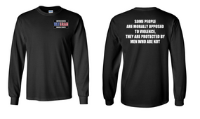 US Marine Corps Veteran Long-Sleeve Cotton Shirt  -Morally- (P)