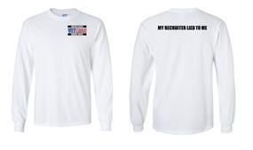 US Marine Corps Veteran Long-Sleeve Cotton Shirt  -Recruiter- (P)