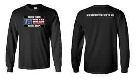US Marine Corps Veteran Long-Sleeve Cotton Shirt  -Recruiter- (FF)