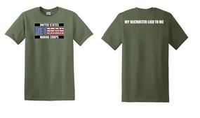 US Marine Corps Veteran Cotton T-Shirt -Recruiter-(FF)