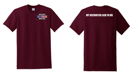 US Marine Corps Veteran Cotton T-Shirt -Recruiter-(P)