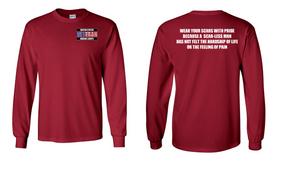 US Marine Corps Veteran Long-Sleeve Cotton Shirt  -Scars- (P)