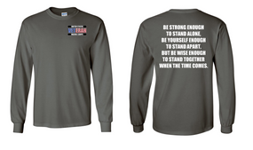 US Marine Corps Veteran Long-Sleeve Cotton Shirt  -Stand- (P)