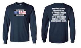 US Marine Corps Veteran Long-Sleeve Cotton Shirt  -Stand- (FF)