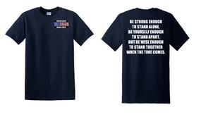 US Marine Corps Veteran Cotton T-Shirt -Stand-(P)
