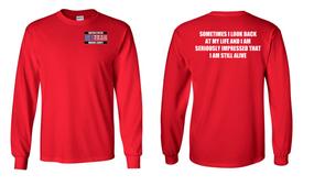 US Marine Corps Veteran Long-Sleeve Cotton Shirt  -Still Alive- (P)
