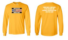 US Marine Corps Veteran Long-Sleeve Cotton Shirt  -Still Alive- (FF)