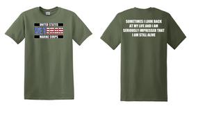 US Marine Corps Veteran Cotton T-Shirt -Still Alive-(FF)