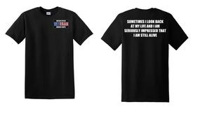 US Marine Corps Veteran Cotton T-Shirt -Still Alive-(P)