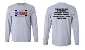 US Marine Corps Veteran Long-Sleeve Cotton Shirt  -Two Kinds- (FF)