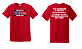 US Marine Corps Veteran Cotton T-Shirt -Two Kinds-(FF)