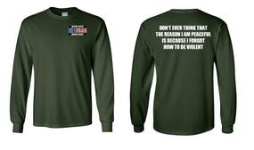 US Marine Corps Veteran Long-Sleeve Cotton Shirt  -Violent- (P)