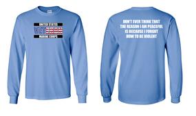 US Marine Corps Veteran Long-Sleeve Cotton Shirt  -Violent- (FF)