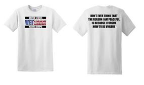 US Marine Corps Veteran Cotton T-Shirt -Violent-(FF)