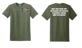 US Marine Corps Veteran Cotton T-Shirt -Violent-(P)