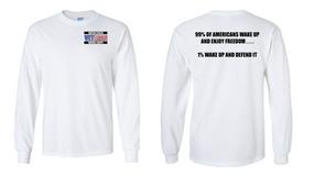 US Marine Corps Veteran Long-Sleeve Cotton Shirt  -Wake Up- (P)