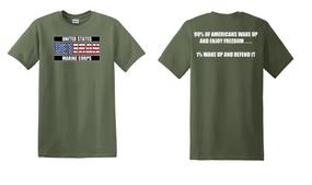 US Marine Corps Veteran Cotton T-Shirt -Wake Up-(FF)
