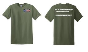 US Marine Corps Veteran Cotton T-Shirt -Wake Up-(P)