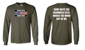 US Marine Corps Veteran Long-Sleeve Cotton Shirt  -Wind- (FF)
