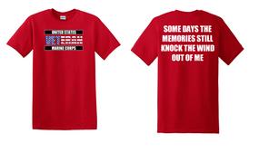US Marine Corps Veteran Cotton T-Shirt -Wind-(FF)