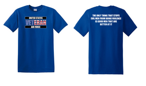 US Air Force Veteran Cotton T-Shirt -Evil-(FF)