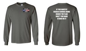 US Air Force Veteran Long-Sleeve Cotton Shirt  -Flag- (P)