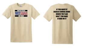 US Air Force Veteran Cotton T-Shirt -Flag-(FF)