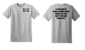 US Air Force Veteran Cotton T-Shirt -Flag-(P)