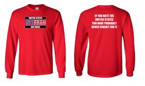 US Air Force Veteran Long-Sleeve Cotton Shirt  -Fought- (FF)