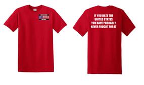 US Air Force Veteran Cotton T-Shirt -Fought-(P)