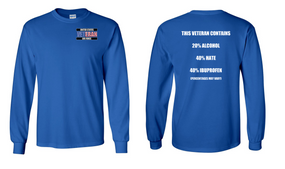 US Air Force Veteran Long-Sleeve Cotton Shirt  -Hate- (P)