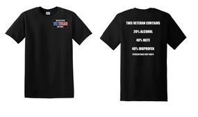 US Air Force Veteran Cotton T-Shirt -Hate-(P)