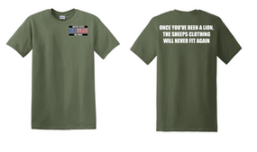 US Air Force Veteran Cotton T-Shirt -Lion-(P)