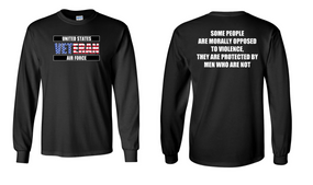 US Air Force Veteran Long-Sleeve Cotton Shirt  -Morally- (FF)