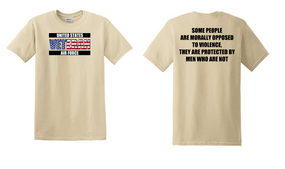 US Air Force Veteran Cotton T-Shirt -Morally-(FF)