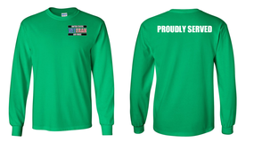 US Air Force Veteran Long-Sleeve Cotton Shirt  -Proudly- (P)