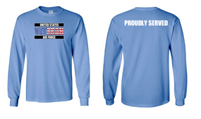 US Air Force Veteran Long-Sleeve Cotton Shirt  -Proudly- (FF)