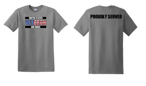 US Air Force Veteran Cotton T-Shirt -Proudly-(FF)