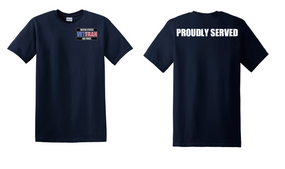 US Air Force Veteran Cotton T-Shirt -Proudly-(P)