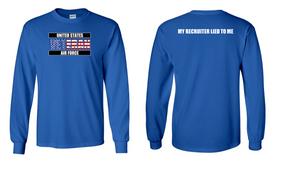 US Air Force Veteran Long-Sleeve Cotton Shirt  -Recruiter- (FF)