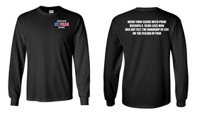 US Air Force Veteran Long-Sleeve Cotton Shirt  -Scars- (P)