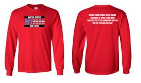 US Air Force Veteran Long-Sleeve Cotton Shirt  -Scars- (FF)