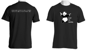 Gun Fu Panda  Short Sleeve Moisture Wick (Charcoal)
