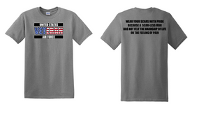 US Air Force Veteran Cotton T-Shirt -Scars-(FF)