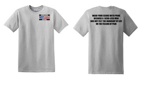 US Air Force Veteran Cotton T-Shirt -Scars-(P)
