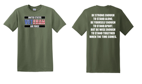 US Air Force Veteran Cotton T-Shirt -Stand-(FF)