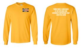 US Air Force Veteran Long-Sleeve Cotton Shirt  -Still Alive- (P)
