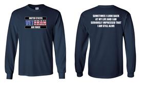 US Air Force Veteran Long-Sleeve Cotton Shirt  -Still Alive- (FF)
