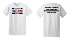 US Air Force Veteran Cotton T-Shirt -Still Alive-(FF)